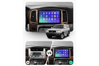 """10.2"""" Android 8.1 Toyota Land Cruiser LC 100 2002 - 2007 GPS Bluetooth Car Player Navigation Radio Stereo DVD Head Unit In Dash Plus OEM Fascia - 2007 / Right Hand Drive"""