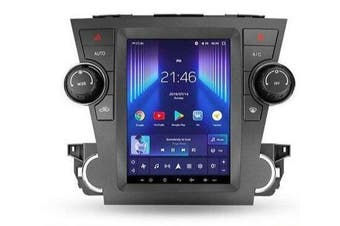 """13"""" Android 8.1 Toyota Highlander Kluger 2 XU40 Tesla Style 2007 - 2013 GPS Bluetooth Car Player Navigation Radio Stereo DVD Head Unit In Dash Plus OEM Fascia - 2012 / Right Hand Drive"""