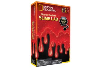 Glow in the Dark Slime Lab Red - National Geographic