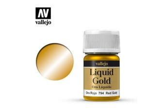 Vallejo Model Color Liquid Gold 35mL Red Gold 70.794