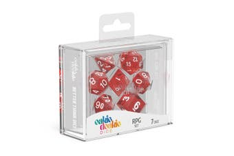 Oakie Doakie Dice RPG 7 Dice Set Speckled Red