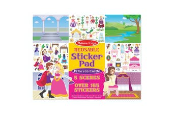 Melissa & Doug Reusable Stickers Princess Castle