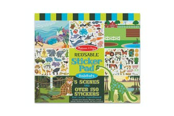 Melissa & Doug Reuseable Sticker Pad Habitats