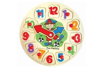 Puzzle Clock Wood