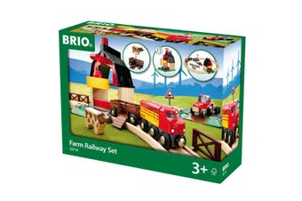 Brio Set Farm Railway 20 Piece