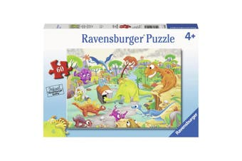 Ravensburger Puzzle 60 Piece Time Traveling Dinos