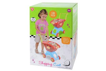 Playgo Shopping Cart 18 Piece Set