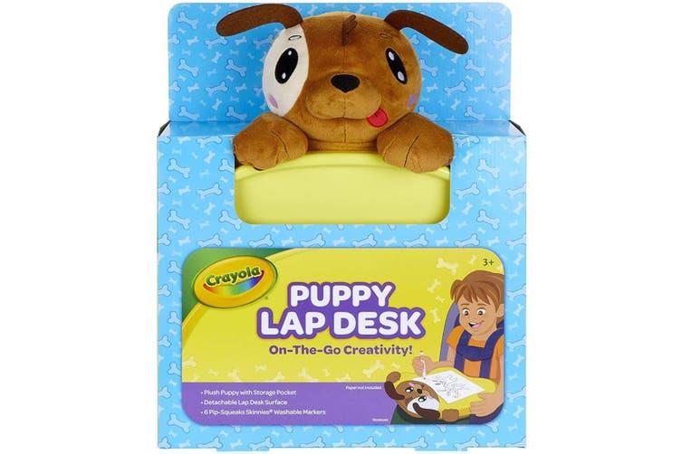 Crayola Kids Travel Lap Desk Brown Puppy
