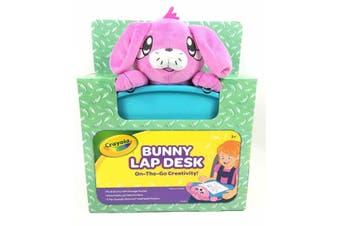 Crayola Kids Travel Lap Desk Pink Bunny