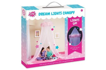 Dream Lights Canopy Pink With 75 LED Lights
