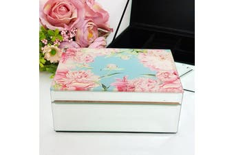 Peony Mirrored Jewellery Box