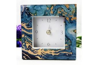 Glass Desk Clock - Fortune of Blue