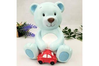Blue Teddy Ceramic Money Box