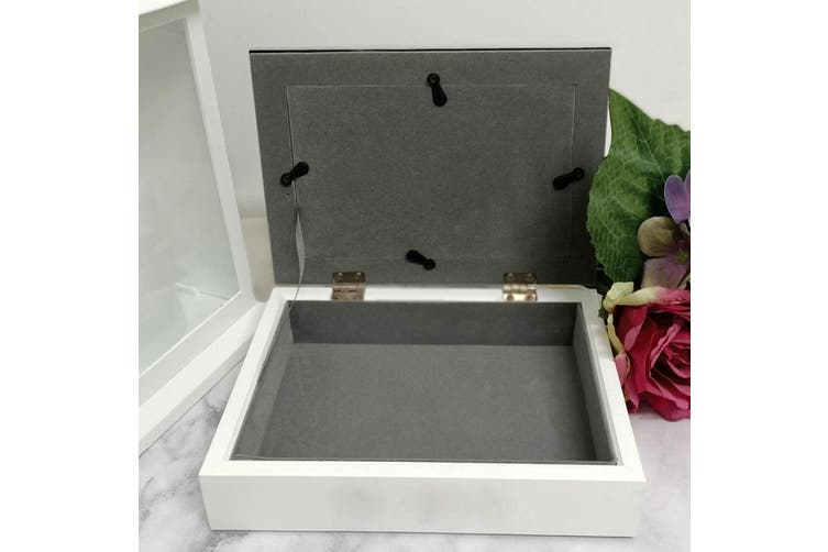 Diamante Photo Keepsake Trinket Jewellery Box