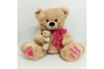 Grandma Mothers Day Teddy Bear Plush - Pink