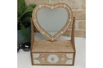 Boho Heart Mirror Dresser with Draw