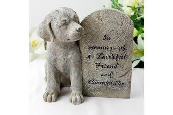Dog Memorial Resin Garden Ornament