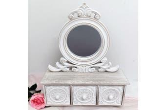 Filigree Mirror Dresser with draws