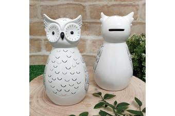 Ceramic Owl Money Box