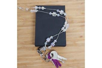 Lanyard ID Badge & Key Holder Necklace - Crystal
