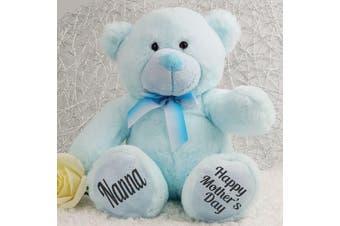 Nanna Mothers Day Teddy Bear Plush 30cm Light Blue