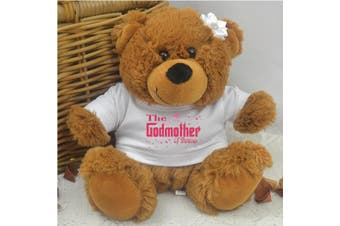 Fairy Godmother Personalised Teddy Bear Brown Plush