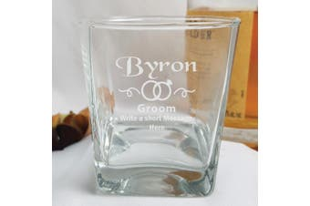 Groom Engraved Personalised Scotch Spirit Glass