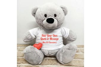 Voice Recordable Custom Bear with T-Shirt - Grey 40cm