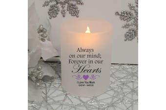 Always In Our Hearts Memorial Tea Light Candle Holder
