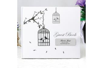 Baby Blessings Guest Book - Bird Cage