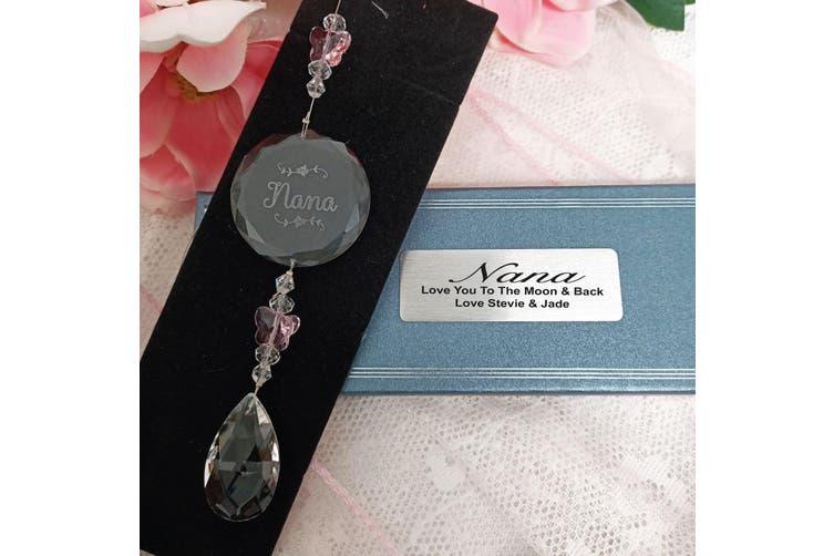 Personalised Nana Glass Suncatcher