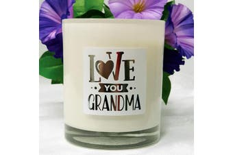 Love You Grandma Scented Soy Candle -Musk Sticks