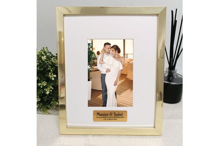 Wedding Personalised Photo Frame 4x6 Gold Kogan Com