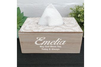 Personalised Tissue Box Cover