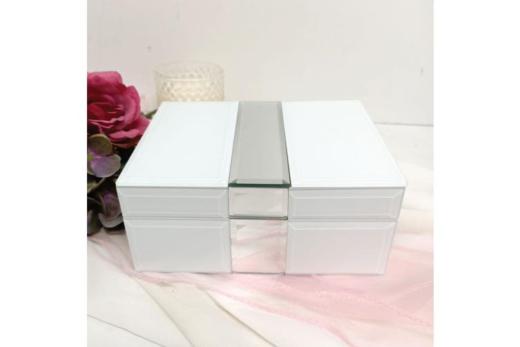 18th Birthday Silver & White Mirror Jewel Box