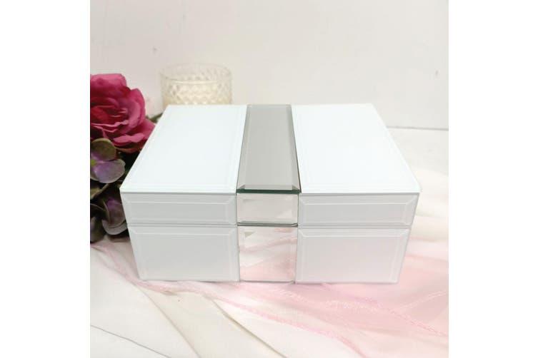 Coach Silver & White Mirror Jewel Box