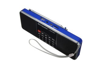 L-288 AMBT bluetooth Portable LCD FM/AM Radio Stereo Speaker MP3 Music Player Micro SD USB BT Blue