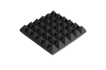 300x300x50mm Soundproofing Foam Studio Acoustic Foam Soundproof Absorption Treatment Panel Tile Polyurethane Foam BLACK COLOR