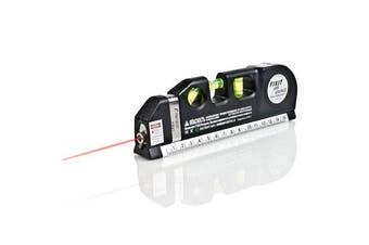 Multipurpose Laser Level Horizontal Vertical Measure Tape Aligner Ruler 3 Bubbles
