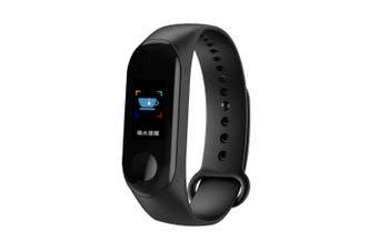 0.96'' TFT IP68 Waterproof Smart Bracelet Remote Camera Sleep Blood Oxygen Monitor Smart Watch BLACK