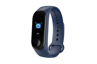 0.96'' TFT IP68 Waterproof Smart Bracelet Remote Camera Sleep Blood Oxygen Monitor Smart Watch BLUE