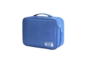 Xmund XD-DY28 Multifunctional Digital Storage Bag Cable Bag USB Cable Charger Earphone Organizer Outdoor Travel BLUE