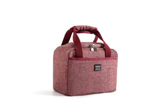 5.71L Insulation Bags Picnic Outdoor Office Lunch Insulation Bags RED