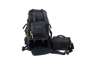 FL-303D Shockproof Water-resistant Camera Bag Backpack for Canon for Nikon DLSR Camera Tripod Lens Flash BLACK