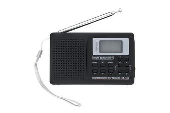 Portable Digital Full Band AM FM SW MW LW Radio Receiver Alarm Clock 9K