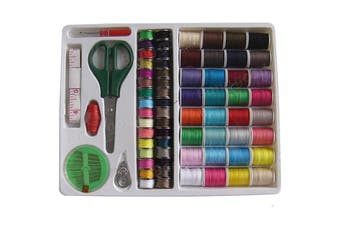 100pcs Portable Sewing Kit Threader Needle Tape Measure Scissor Thimble Set