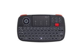 bluetooth 2.4G Wireless Air Mouse Mini Keyboard Touchpad Airmouse with Scroll Wheel black
