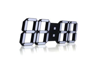Large Modern Digital Led Skeleton Wall Clock With Date Timer 24/12 Hour Temperature Display Remote Control