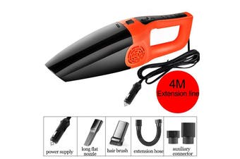8000Pa 120w Car Vacuum Cleaner High Power Wet And Dry Strong Suction Portable Vacuum Cleaner ORANGE
