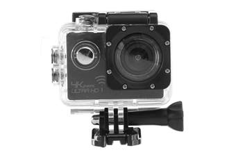 Waterproof 12MP 120 Degree Wide Angle 720P HD WIFI Sport Action Camera black